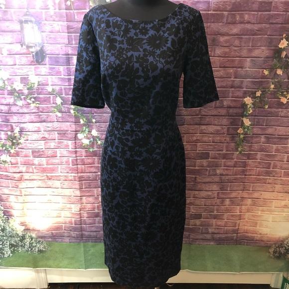 Boden Dresses 60s Style Black Blue Midi Dress 10l Poshmark